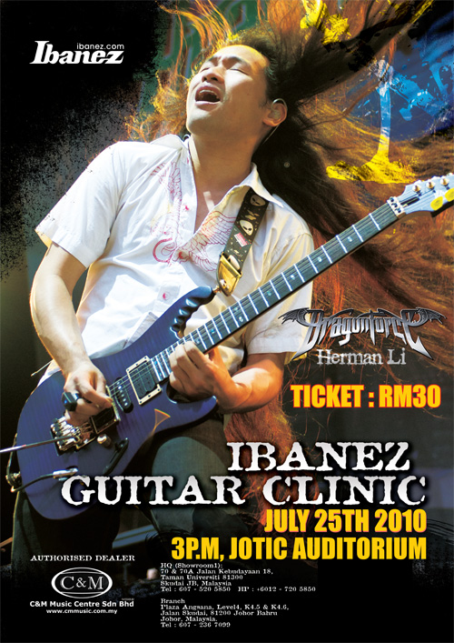 Ibanez Guitar Clinic 2010 - Herman Li